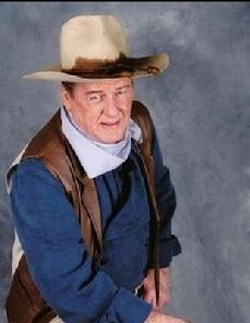 If you ever need a John Wayne impersonator, click on the photo to Ermal Williamson and get the best...