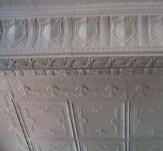 photo historic cottonwood hotel's original tin ceiling