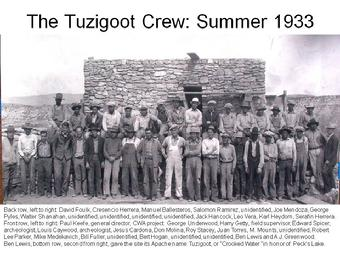 Tuzigoot National Monument 1933 Crew Picture