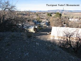 Picture taken from Old Town Cottonwood Arizona of Tuzigoot National Monument