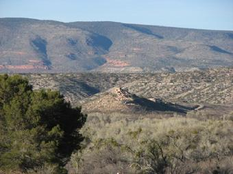 Tuzigoot National Monument picture taken from Old Town Cottonwood Arizona